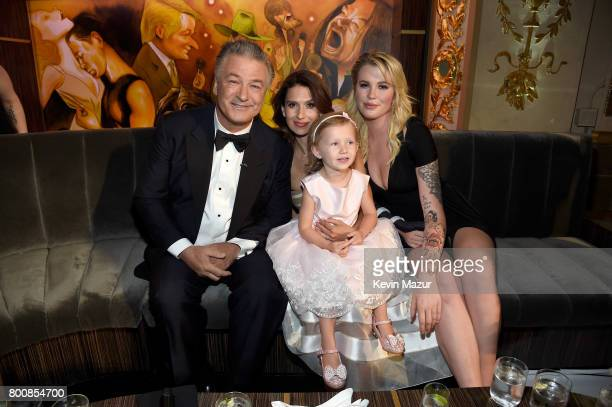 Alec Baldwin Hilaria Baldwin Carmen Gabriela Baldwin and Ireland Baldwin attend 'Spike's One Night Only Alec Baldwin' at The Apollo Theater on June...