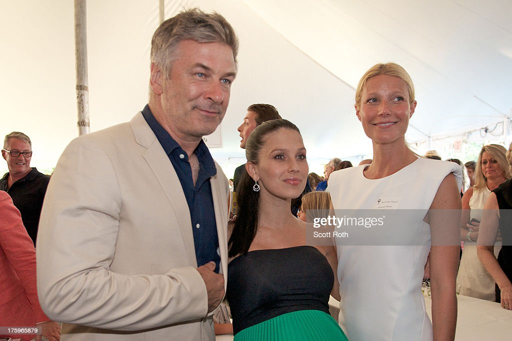 Alec Baldwin, Hilaria Thomas, and Gwyneth Paltrow attend 9th Annual Authors Night at The East Hampton Library on August 10, 2013 in East Hampton, New York.