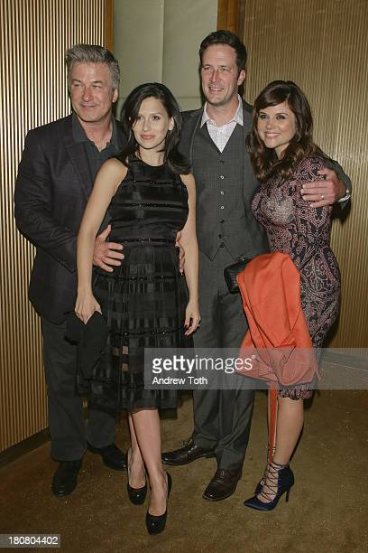 Alec Baldwin Hilaria Thomas Brady Smith and Tiffani Thiessen attend the NBC's 2013 Fall Launch Party hosted by Vanity Fair at The Standard Hotel on...