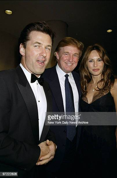 Alec Baldwin is joined by Donald Trump and Melania Knauss at benefit for the Carol M Baldwin Breast Cancer Research Fund at the Marriott Marquis Hotel