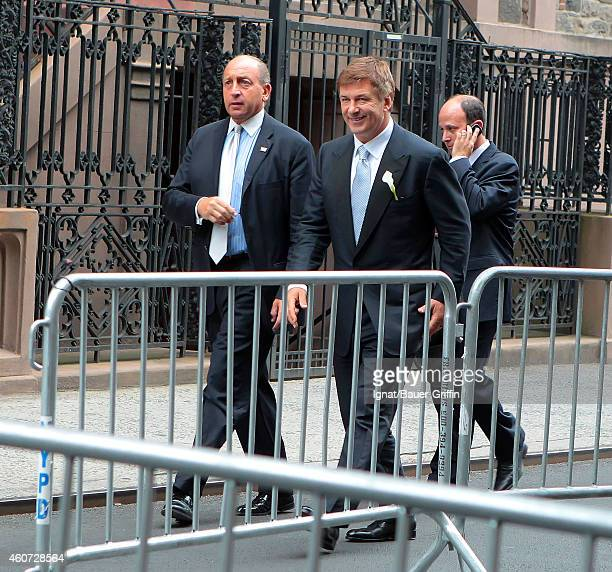 Alec Baldwin is seen arriving at his wedding to Hilaria Thomas at St Patrick's Old Cathedral on July 01 2012 in New York City