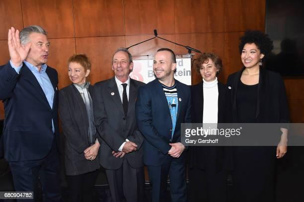 Alec Baldwin Jamie Bernstein Alexander Bernstein Yannick NezetSeguin Nina Bernstein Simmons and Julia Bullock attend the Leonard Bernstein at 100...