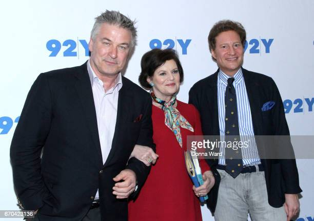 Alec Baldwin Janet Maslin and Tom Kaplan attend Alec Baldwin in Conversation with Janet Maslin at 92nd Street Y on April 19 2017 in New York City