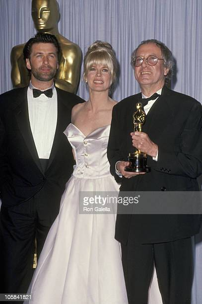 Alec Baldwin Kim Basinger and John Barry during 63rd Annual Academy Awards at Shrine Auditorium in Los Angeles California United States