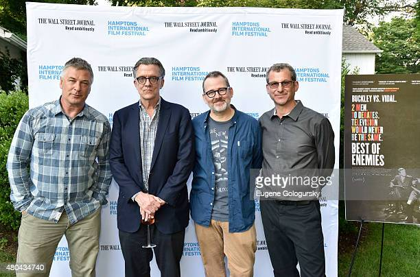 Alec Baldwin, Kurt Andersen, Morgan Neville, and Robert Gordon attend The Hamptons International Film Festival SummerDocs 2015 - Best of Enemies at...