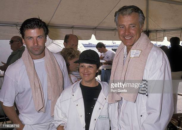Alec Baldwin Linda Lavin and Lyle Waggoner during 3rd Annual Fransiscan Celebrity Tennis Benefit at Forrest Hills in New York City New York United...