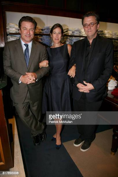 Alec Baldwin Lisa Birnbach and Kurt Anderson attend The launch of 'True Prep' at Brooks Brothers on September 14 2010 in New York