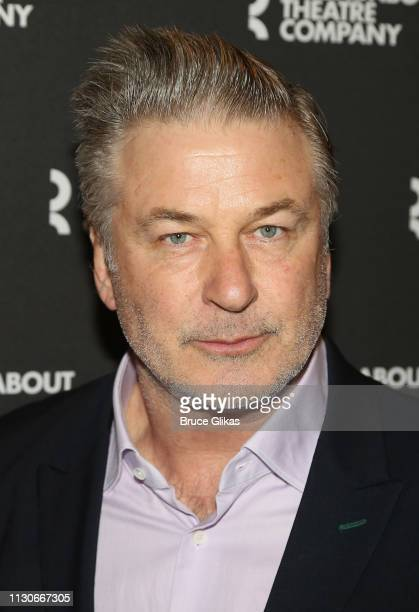 Alec Baldwin poses at the opening night of The Roundabout Theatre Company's production of 'Kiss Me Kate' on Broadway at The Studio 54 Theater on...