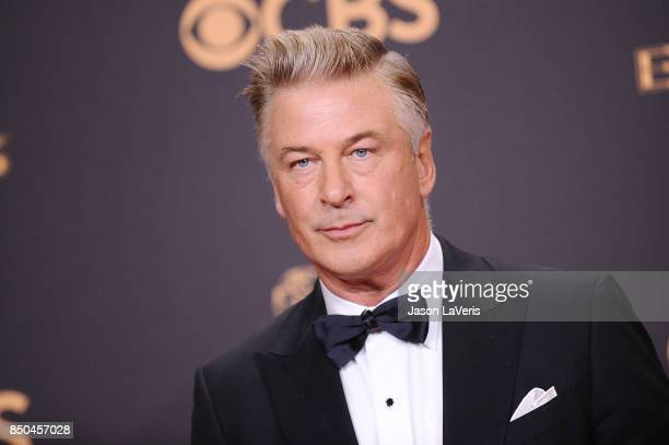 Alec Baldwin poses in the press room at the 69th annual Primetime Emmy Awards at Microsoft Theater on September 17 2017 in Los Angeles California