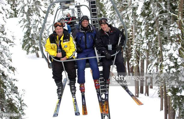 Alec Baldwin Robert Kennedy Jr and Matt Dillon during 2003 Celebrity Sports Invitational Ski Event in Squaw Valley at Resort at Squaw Creek in Lake...