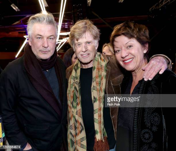Alec Baldwin Robert Redford and Sibylle Szaggars attend Sundance Institute's 'An Artist at the Table Presented by IMDbPro' at the 2020 Sundance Film...