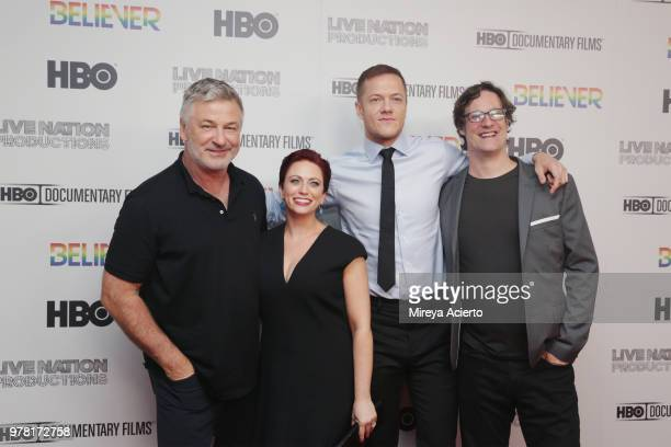Alec Baldwin Sheena M Joyce Dan Reynolds and Don Argott attend the Believer New York Premiere at Metrograph on June 18 2018 in New York City