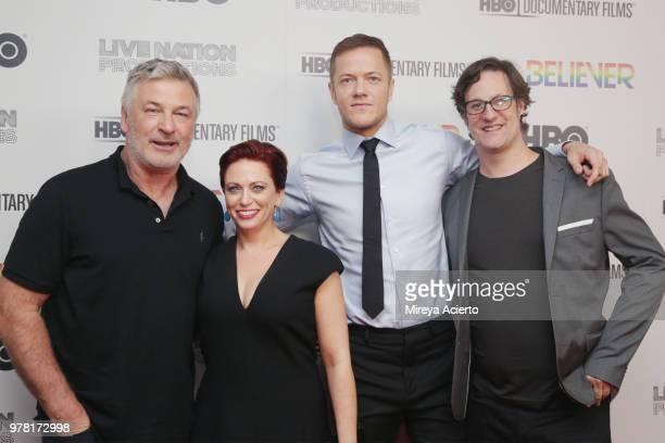 Alec Baldwin Sheena M Joyce Dan Reynolds and Don Argott attend the Believer New York Premiere at Metrograph on June 18 2018 in New York City