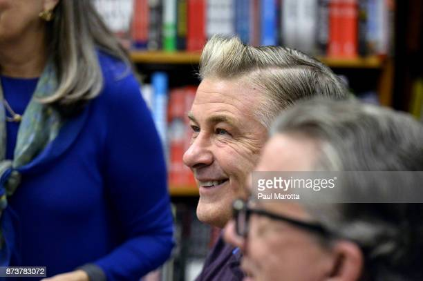 Alec Baldwin signs copies of his new book You Can't Spell America Without Me at Harvard Bookstore on November 13 2017 in Cambridge Massachusetts