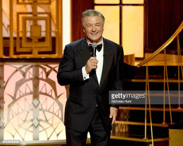 Alec Baldwin speaks onstage during 'Spike's One Night Only Alec Baldwin' at The Apollo Theater on June 25 2017 in New York City