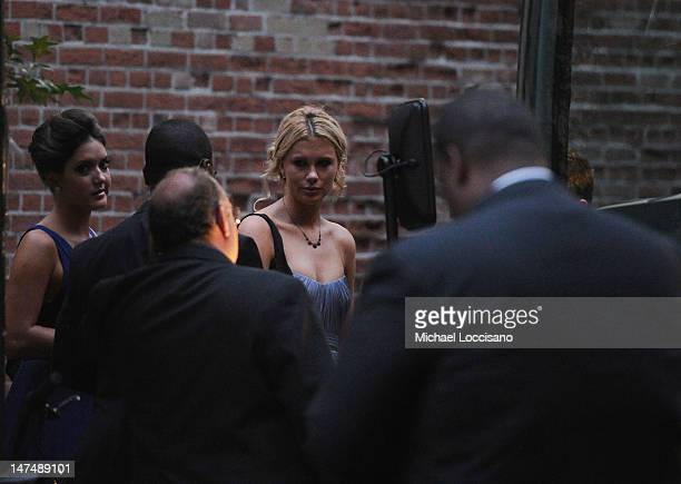 Alec Baldwin's daughter Ireland Baldwin attends her father and Hilaria Thomas' wedding ceremony at St Patrick's Old Cathedral on June 30 2012 in New...
