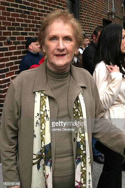 Alec Baldwin's mother during Marilyn Manson Megan Mullally The Libertines Johnny Knoxville Visit the Late Show with David Letterman May 8 2003 at Ed...
