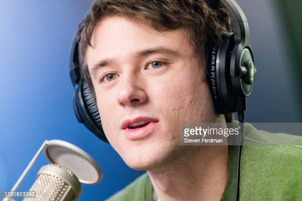 Alec Benjamin visits SiriusXM Studios on March 19 2019 in New York City