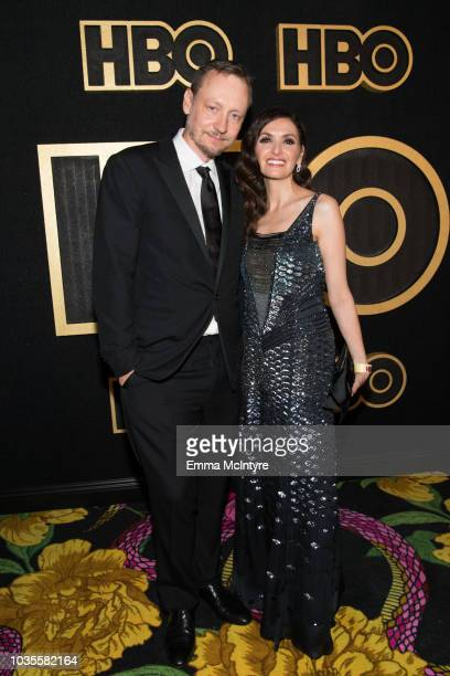 Alec Berg and Michele Maika arrive at HBO's Post Emmy Awards Reception at the Plaza at the Pacific Design Center on September 17 2018 in Los Angeles...