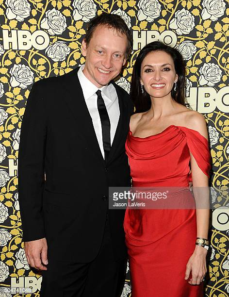 Alec Berg and Michele Maika attend HBO's post 2016 Golden Globe Awards party at Circa 55 Restaurant on January 10 2016 in Los Angeles California