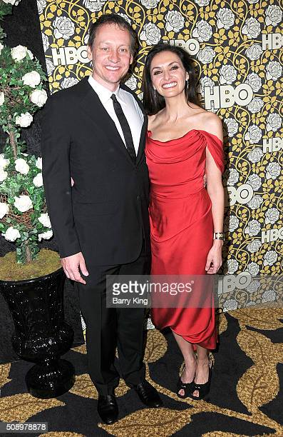 Alec Berg and Michele Maika attend HBO's Post Golden Globes Awards Party at Circa 55 Restaurant on January 10 2015 in Los Angeles California