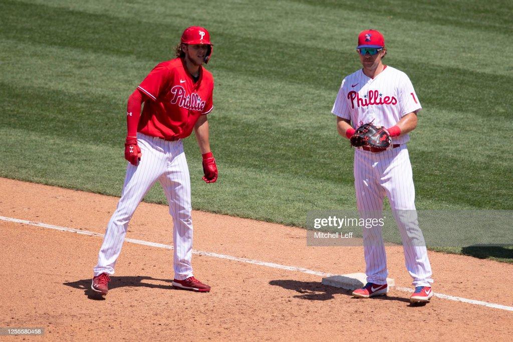 Philadelphia Phillies Summer Workouts : News Photo