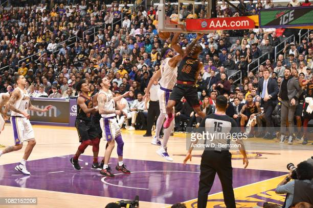 Alec Burks of the Cleveland Cavaliers dunks the ball against the Los Angeles Lakers on January 13 2019 at STAPLES Center in Los Angeles California...