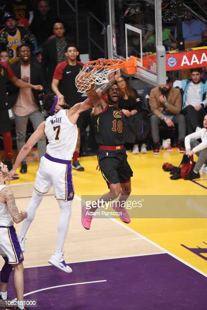 Alec Burks of the Cleveland Cavaliers dunks the ball against the on January 13 2019 at STAPLES Center in Los Angeles California NOTE TO USER User...