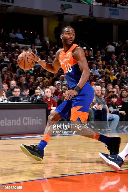 Alec Burks of the Cleveland Cavaliers handles the ball against the Sacramento Kings on December 7 2018 at Quicken Loans Arena in Cleveland Ohio NOTE...