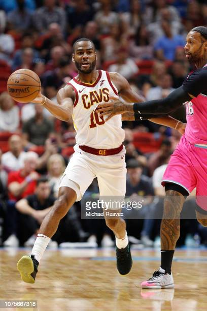 Alec Burks of the Cleveland Cavaliers in action against the Miami Heat at American Airlines Arena on December 28 2018 in Miami Florida NOTE TO USER...