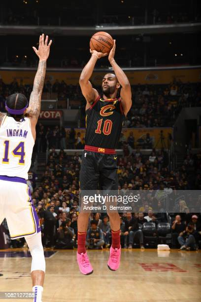 Alec Burks of the Cleveland Cavaliers shoots the ball against the Los Angeles Lakers on January 13 2019 at STAPLES Center in Los Angeles California...