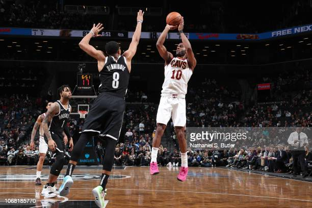 Alec Burks of the Cleveland Cavaliers shoots the ball against the Brooklyn Nets on December 3 2018 at the Barclays Center in Brooklyn New York NOTE...
