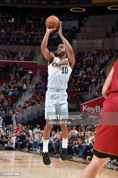 Alec Burks of the Cleveland Cavaliers shoots the ball against the Cleveland Cavaliers on January 2 2019 at Quicken Loans Arena in Cleveland Ohio NOTE...