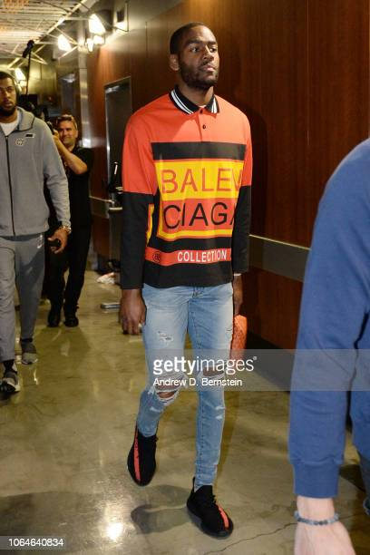 Alec Burks of the Utah Jazz arrives before the game against the Los Angeles Lakers on November 23 2018 at STAPLES Center in Los Angeles California...