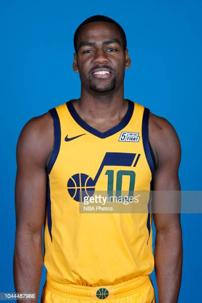 Alec Burks of the Utah Jazz poses for a head shot during media day at Zions Bank Basketball Campus on September 24 2018 in Salt Lake City Utah NOTE...