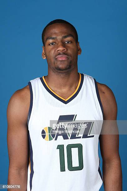 Alec Burks of the Utah Jazz poses for a headshot during 20162017 Utah Jazz Media Day at Zions Bank Basketball Center on September 26 2016 in Salt...