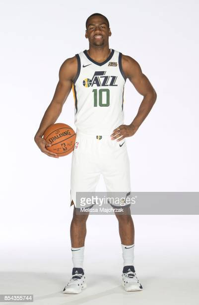 Alec Burks of the Utah Jazz poses for a photo during media day at Zions Bank Basketball Center on September 25 2017 in Salt Lake City Utah NOTE TO...