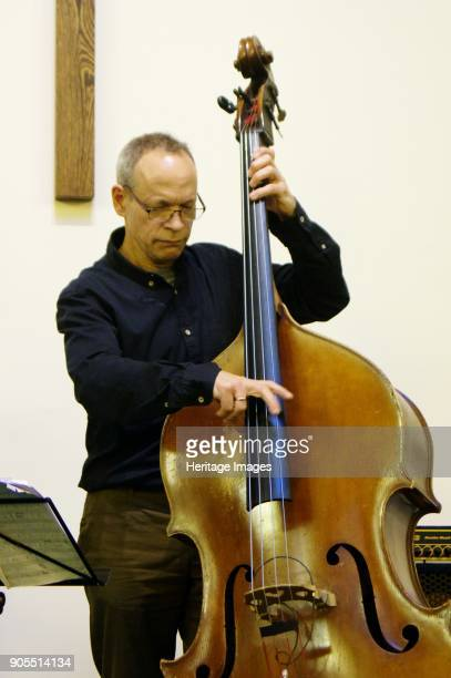 Alec Dankworth National Jazz Archive fundraising gig Loughton Methodist Church Loughton Essex November 2 2017 Artist Brian O'Connor