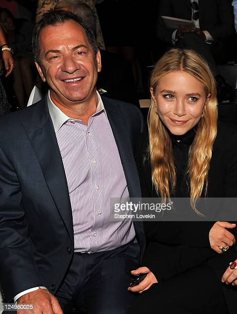 Alec Gores and MaryKate Olsen attend the JMendel Spring 2012 Fashion Show at Lincoln Center on September 14 2011 in New York City