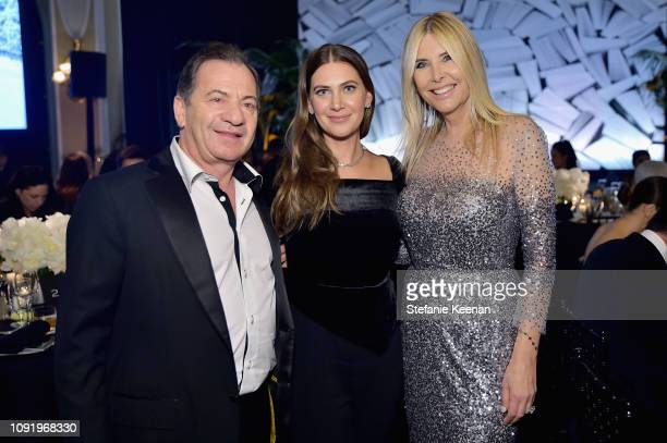 Alec Gores Rochelle Gores Fredston and Irena Medavoy attend Learning Lab Ventures 2019 Gala Presented by Farfetch at Beverly Hills Hotel on January...