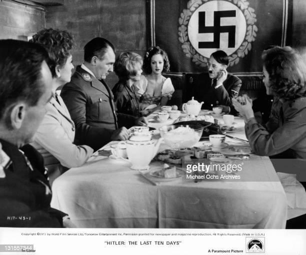 Alec Guinness as Hitler celebrates his birthday with members of his hidden bunker Eric Porter Barbara Jefford Mark Kingston Diane Cilento Doris...