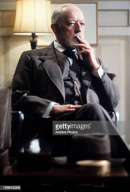 Alec Guinness as Sigmund Freud in a scene from the film 'Lovesick' 1983