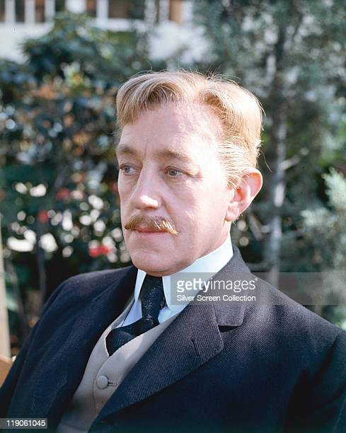 Alec Guinness British actor in a still from the film 'Hotel Paradiso' 1966