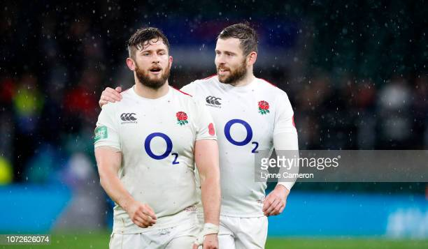 Alec Hepburn and Elliot Daly of England during the Quilter International match between England and New Zealand at Twickenham Stadium on November 10...