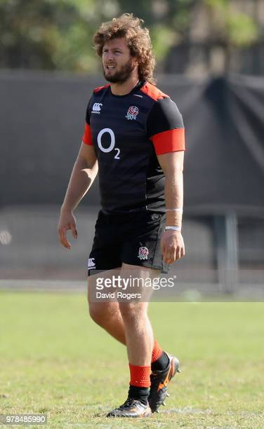 Alec Hepburn looks on during the England training session held at Kings Park on June 19 2018 in Durban South Africa