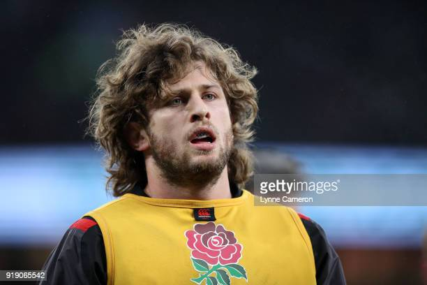 Alec Hepburn of England during the NatWest Six Nations match between England and Wales at Twickenham Stadium on February 10 2018 in London England
