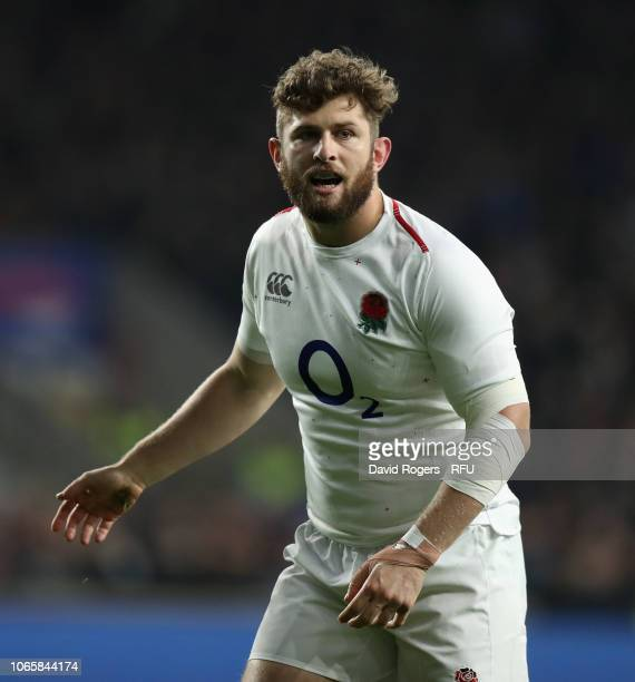 Alec Hepburn of England looks on during the Quilter International match between England and Australia on November 24 2018 in London United Kingdom