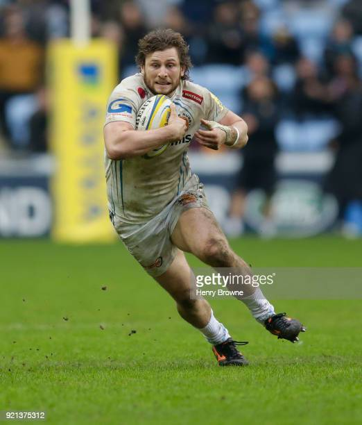 Alec Hepburn of Exeter Chiefs during the Aviva Premiership match between Wasps and Exeter Chiefs at The Ricoh Arena on February 18 2018 in Coventry...