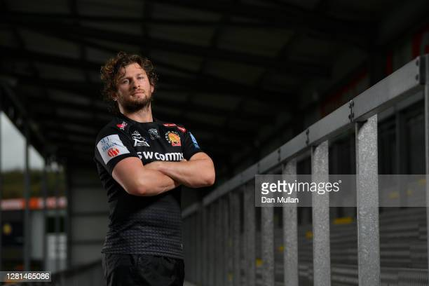 Alec Hepburn of Exeter Chiefs poses for a portrait following a training session at Sandy Park on October 21, 2020 in Exeter, England.