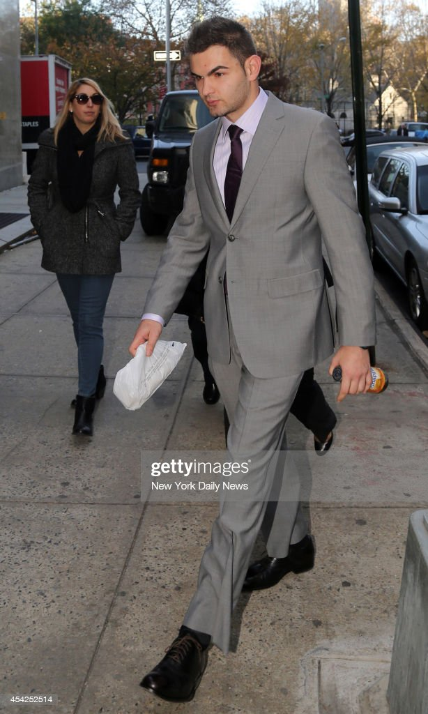 Alec Katsnelson outside Manhattan Supreme Court on Thursday, November 14, 2013. Katsnelson was stabbed several times by his then-girlfriend, Yekaterina Pusepa, who is on trial for attempted murder.